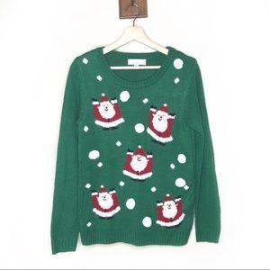 Carolyn Taylor ugly Christmas Santa Claus sweater